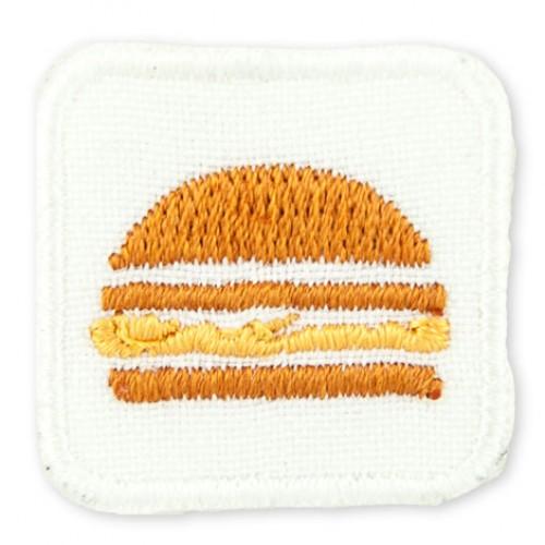 Hamburger malá nášivka / šírka 2,5 cm x 2,5 cm výška /