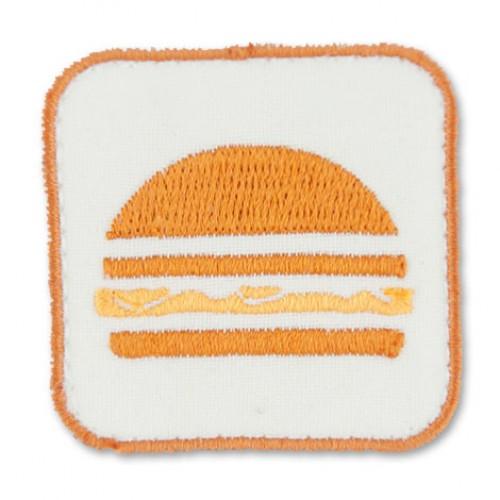 Hamburger nášivka / šírka 4,5 cm x 4,5 cm výška /
