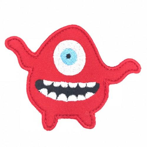Monsterko červený / 10 cm šírka x 7 cm výška /