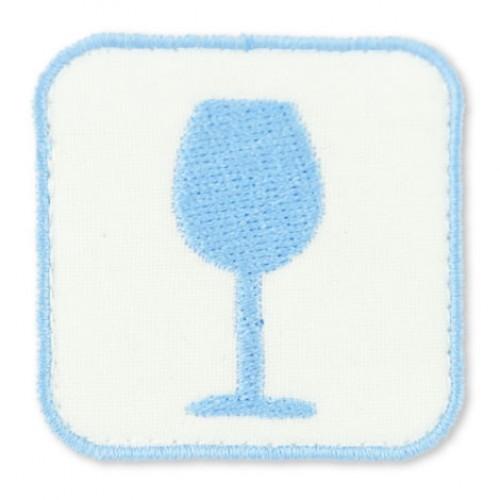 Vino nášivka / šírka 4,5 cm x 4,5 cm výška /