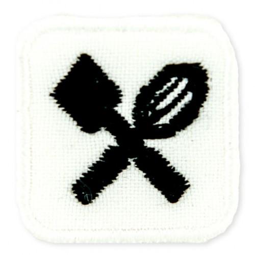 Príbor mini nášivka / šírka 2,5 cm x 2,5 cm výška /