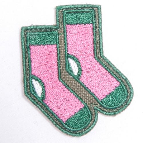 Ponožky nášivka / šírka 4 cm x 5,5 cm výška /